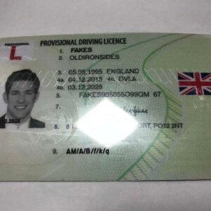 UK PROVISIONAL DRIVING LICENCE